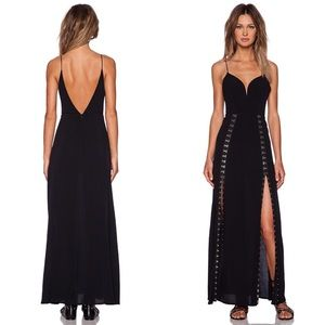 NBD You Get Yours Dress in Black Hook and Eye Slit